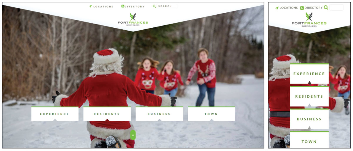 Town of Fort Frances website screenshots